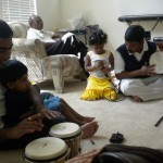 Nivedhana, Sadish, Edwin, Ethan, and Edwin's Dad on Easter day